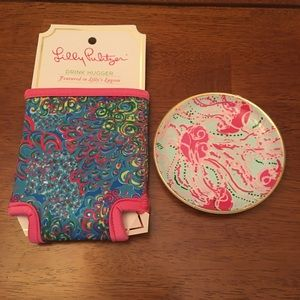 Lilly Pulitzer Hugger with Ceramic Plate NWT
